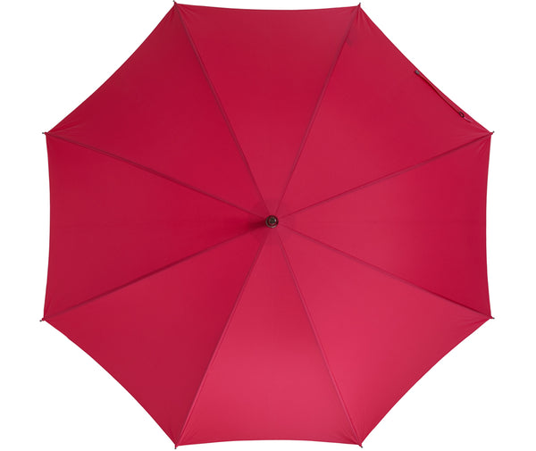 Beechwood core umbrella handmade and rain tested in England (pink)