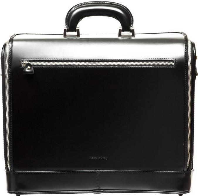 Black attaché briefcase and laptop bag for men and women