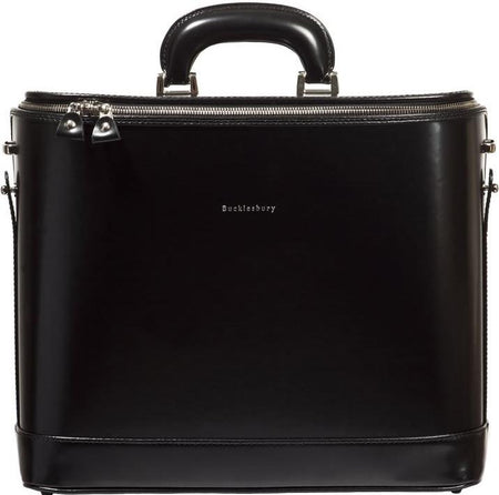 Navy Blue Italian Leather Laptop Bag