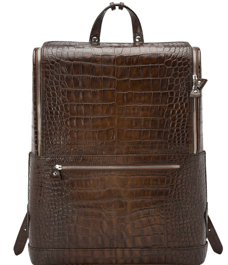 Dark Brown Bucklesbury Fine Italian Leather Backpack