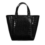 Tote Handbag in Black Croc