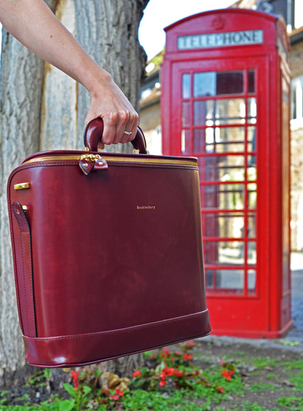 Burgundy Italian Leather Laptop Bag