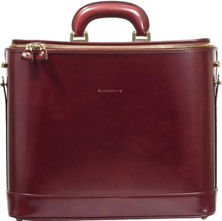 Dark Brown Italian Leather Laptop Bag