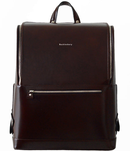 Black Bucklesbury Fine Italian Leather Backpack