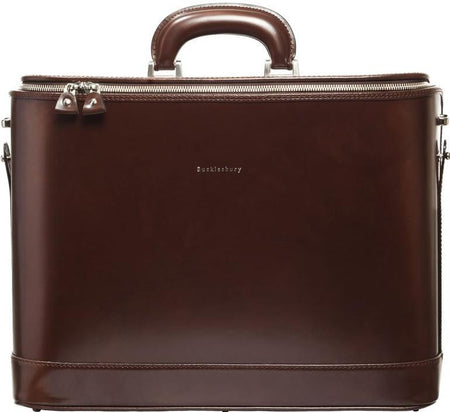 Caramel Croc-Embossed Italian Leather Attaché Case