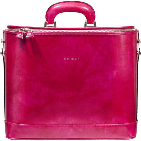 "Red Croco Attaché Case for 15"" Laptop"