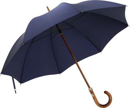 Beechwood core umbrella handmade and rain tested in England (kingfisher blue)