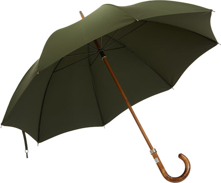 Telescopic umbrella handmade and rain tested in England (burgundy)