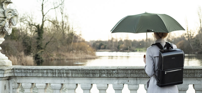 Telescopic Green Umbrella | Handmade in England