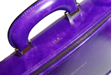 Purple Italian Leather Laptop Bag