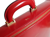 Red Italian Leather Laptop Bag