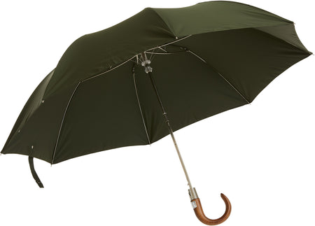 Telescopic umbrella handmade and rain tested in England (light pink)