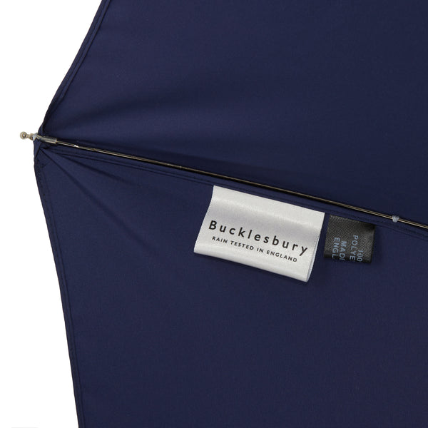 Bucklesbury handmade telescopic umbrella navy blue