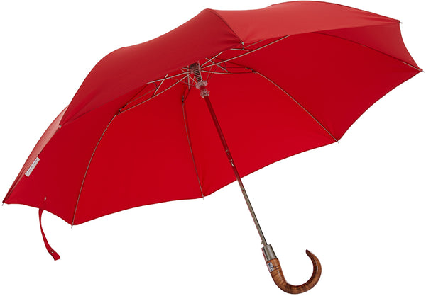 Telescopic Red Umbrella | Handmade in England