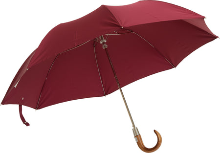 Telescopic umbrella handmade and rain tested in England (navy blue)