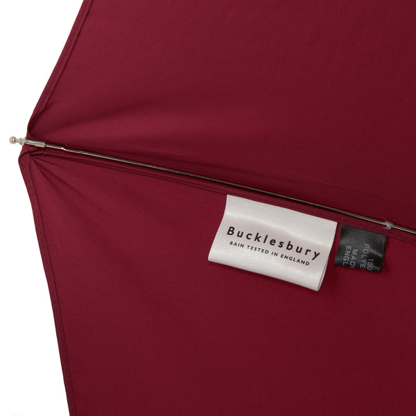 Bucklesbury handmade telescopic umbrella burgundy
