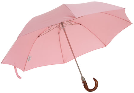 Telescopic umbrella handmade and rain tested in England (pink)