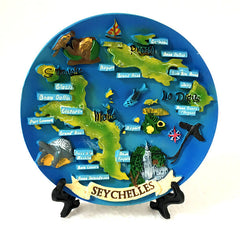 Resin Plate with Seychelles map