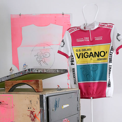silkscreen, yersey, graphics, henryk kwiatek, cx, cycling