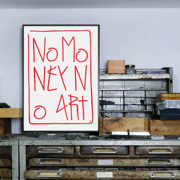 sp38, silkscreen, poster, serigrafia, no money no art, typozine