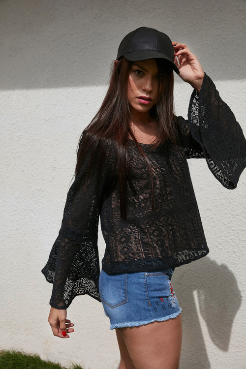 Lacey Summers Bell Sleeve Top - BOHO INDIAN