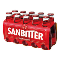 SANBITTER CL 10 X 10 RED IN GLASS BOTTLES