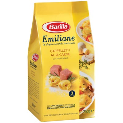 BARILLA PASTA GR 250 DRIED CAPPELLETTI WITH MEAT