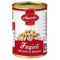 AMATO LEGUMES GR 400 COOKED WHITE BEANS IN TIN BUONI SAPORI QUALITY