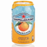 SAN PELLEGRINO CL 33 CLASSIC ORANGE IN CAN UK LABEL