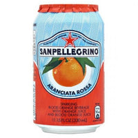 SAN PELLEGRINO CL 33 RED SWEET ORANGE IN CAN UK LABEL