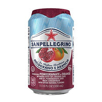 SAN PELLEGRINO CL 33 POMEGRANATE AND ORANGE IN CAN UK LABEL