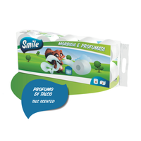 SMILE PREMIUM TOILET PAPER 4 PLY X 10 ROLLS (125 GR PER ROLL) TALC SCENTED
