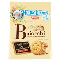 MULINO BIANCO PASTRY FOOD GR 260 BAIOCCHI WITH HAZELNUTS