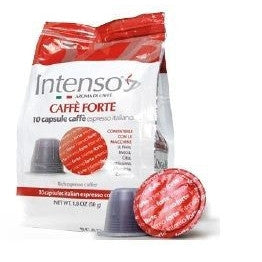INTENSO COFFEE CAPSULES X 10 PCS GR 5 FORTE NESPRESSO COMPATIBLE