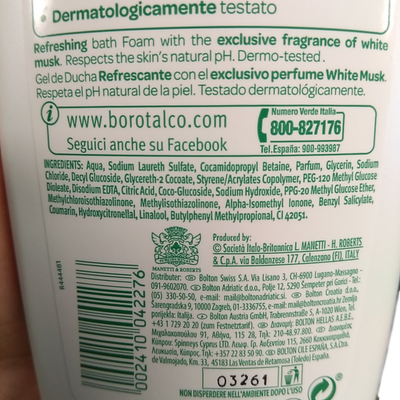 BOROTALCO BODY WASH ML 500 REFRESHING
