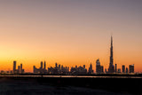 DUBAI'S SKYLINE SUNSET