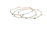 Bangle Blue Topaz Silver