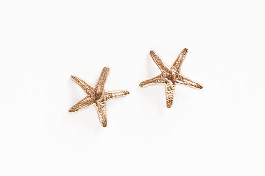 Earrings: Starfish 14k