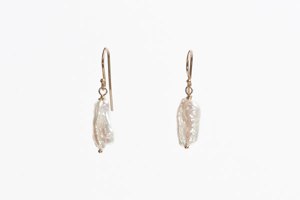 Earrings: Keshi Pearl