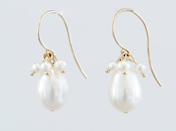 Earrings: Classic Pearl Clusters