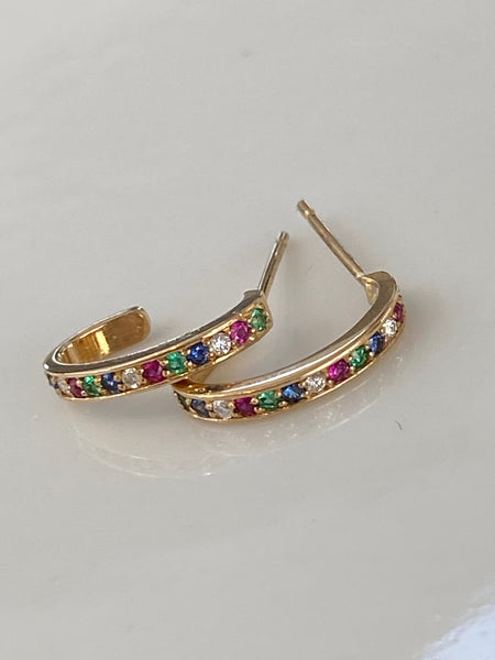 Earrings: Rainbow Hoops