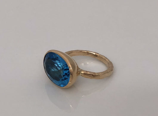 Ring: Swiss Blue Topaz