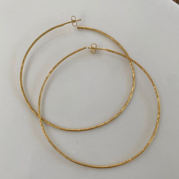 Earrings: Large Hoop