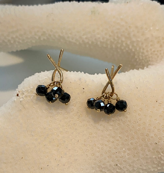 Earrings: Black Spinel