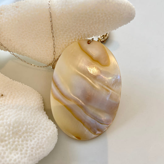 Necklace: Shell & Sterling Silver