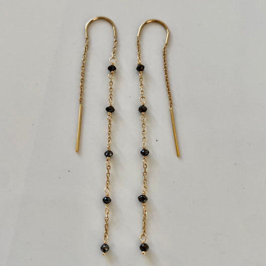 Earrings: Black Diamonds
