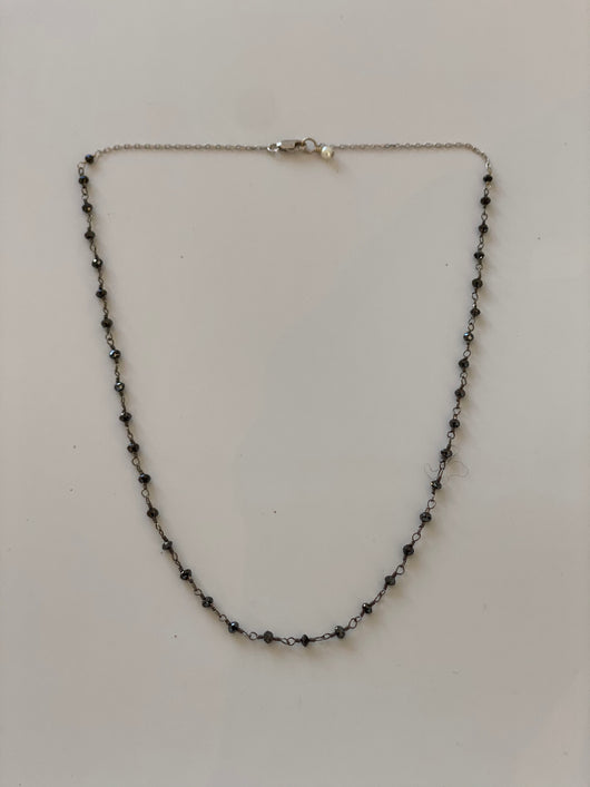 Necklace: Black Diamonds