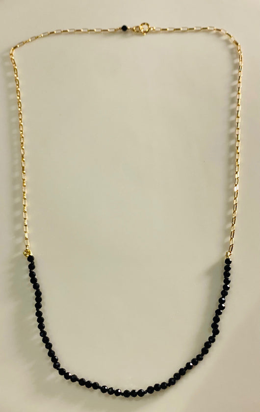 Necklace: Black Spinel