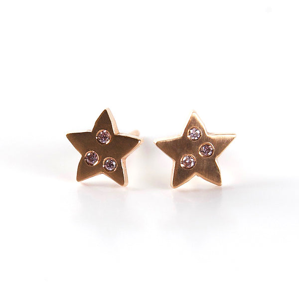 Earrings: Pink Diamond Stars