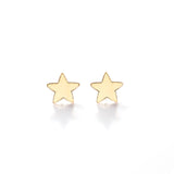 Earrings: Star Studs Gold